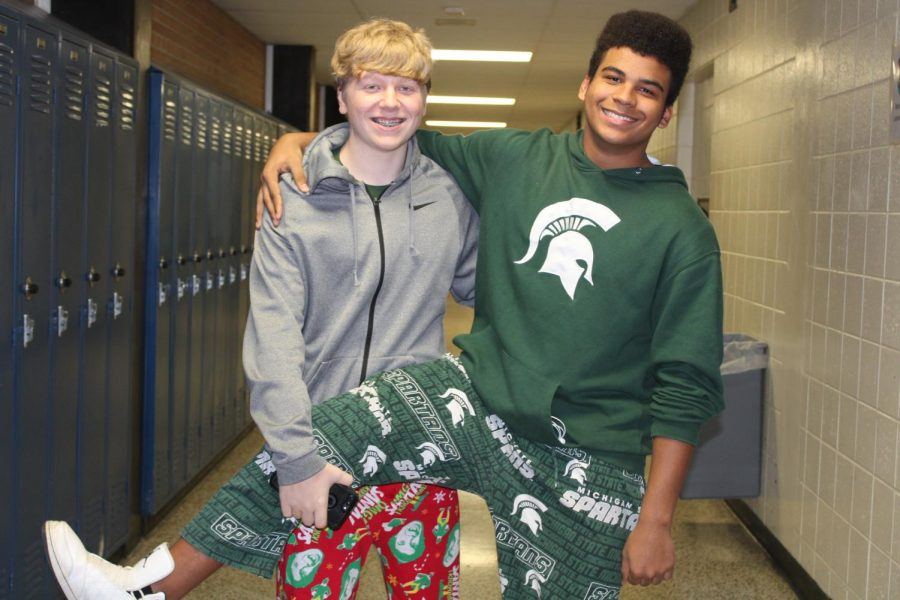 Coon, Cooper celebrate pajama day together