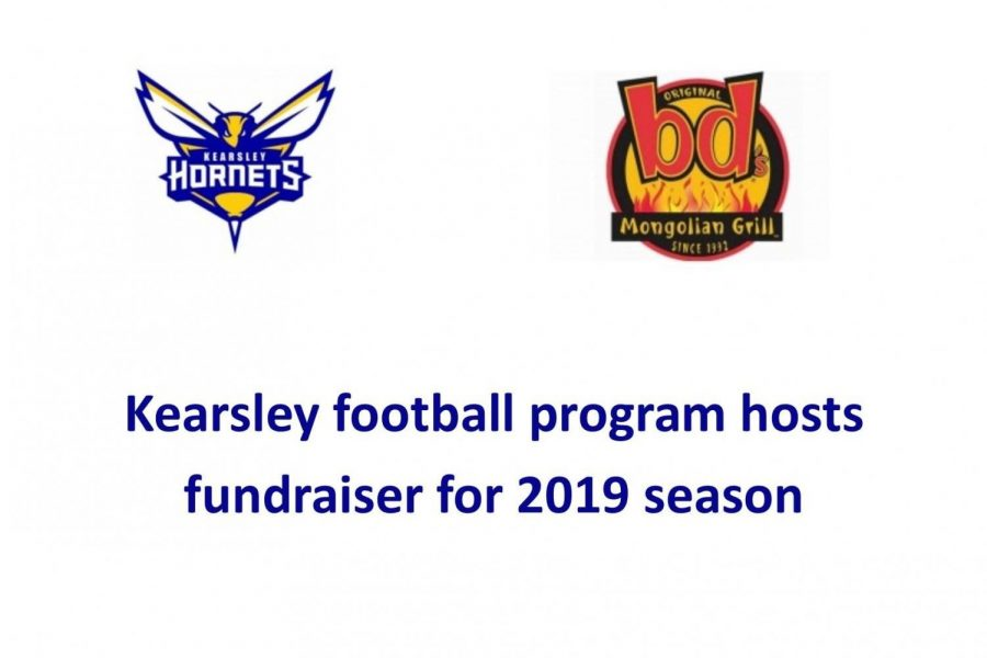 BD's Mongolian Grill is hosting a fundraiser for Kearsley football Monday, Jan. 14, starting at 5 p.m.