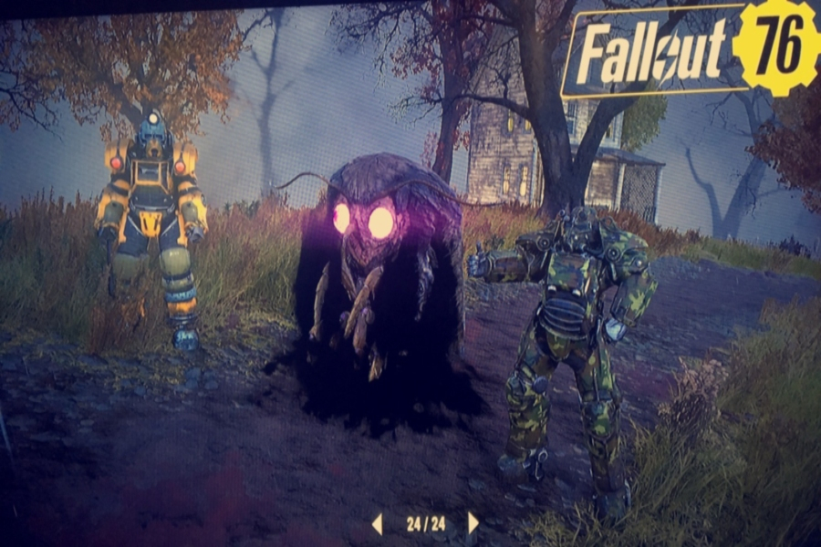 Fallout 76 was released Nov. 4 and was given mixed reviews from fans and critics alike. In this photo, which was taken via photo mode while playing the game, a player walks by a moth man.