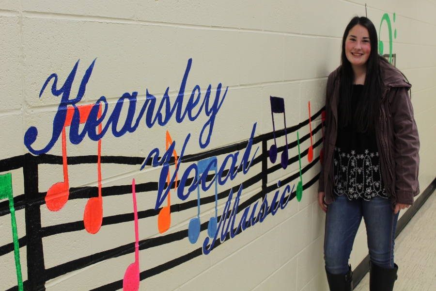 Senior Allison DePotty has tried many different activities since she came to KHS, including choir.