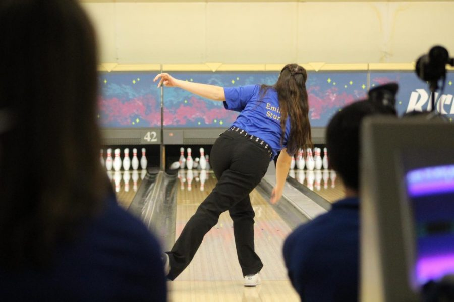 Sophomore Emilea Sturk led the Hornets with a 226-pin game during the match against Swartz Creek on  Wednesday, Jan. 2.