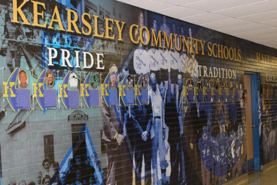 The+KHS+Hall+of+Fame+wall+states+the+main+parts+of+the+slogan%2C+%22pride%2C+tradition%2C+and+excellence%22.