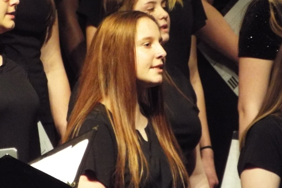 Sophomore Alexis Williams values her ability to sing and is thankful to be a part of A Capella choir.