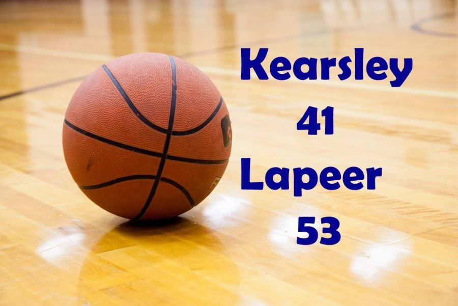 The boys basketball team lost 53-41 to Lapeer in their second MHSAA district game at Davison on Wednesday, Feb. 27.