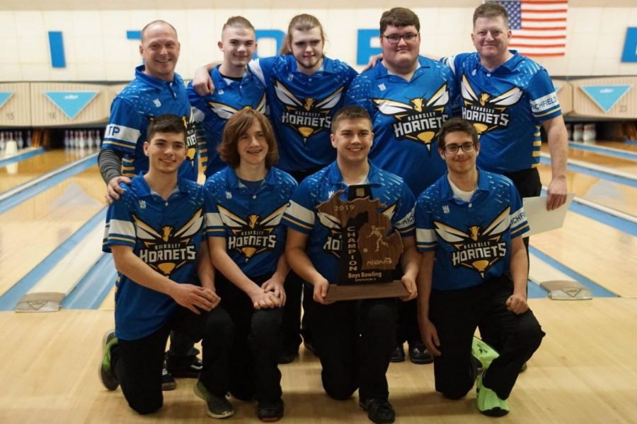 The boys bowling team won its MHSAA Division 2 regional as a team on Friday, Feb. 22, with a total pinfall of 4,091.