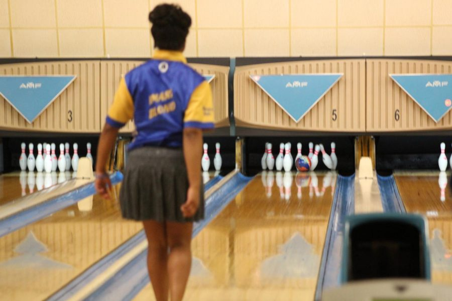 Junior Imari Blond finished first in the singles portion of the regional tournament for her third year in a row on Saturday, Feb. 23.