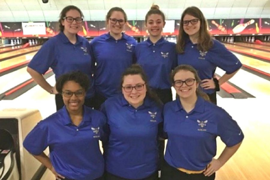 The girls bowling team clinched its 10th consecutive league title after beating Clio on Saturday, Feb. 11. During that time, the Hornets have never lost a league match.