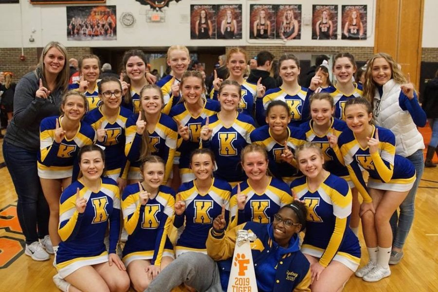 The competive cheer team took first at the Fenton Invitational on Satuday, Feb. 9.