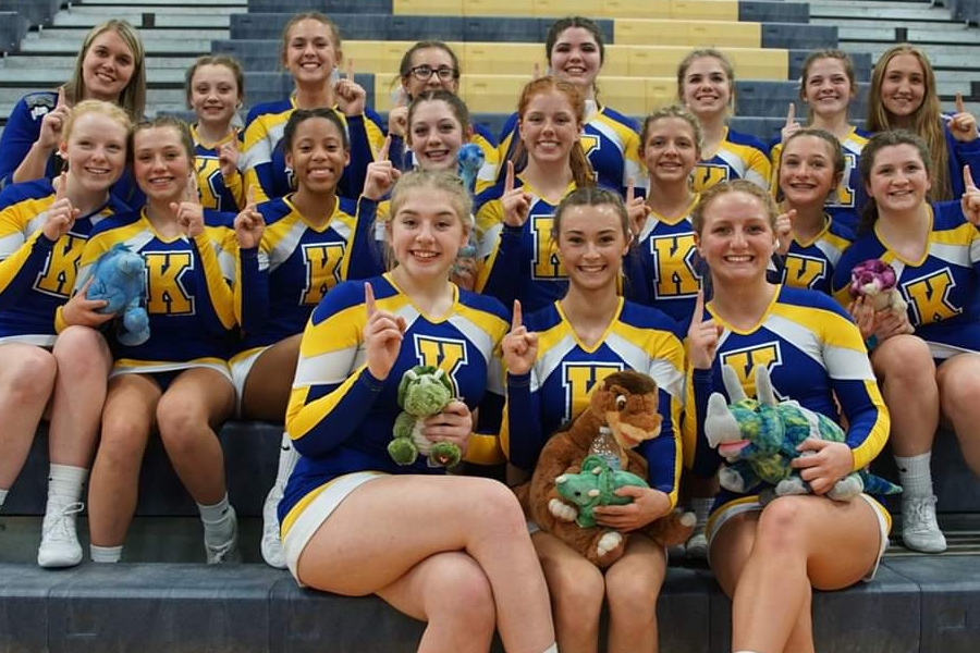 The cheer team took first at the second Metro League competition, which was at Owosso on Monday, Feb. 11.