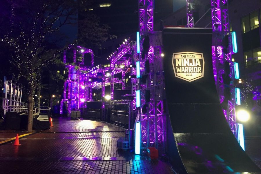 'American Ninja Warrior' is a game show where contestants compete in difficult obstacles to become the American Ninja Warrior.