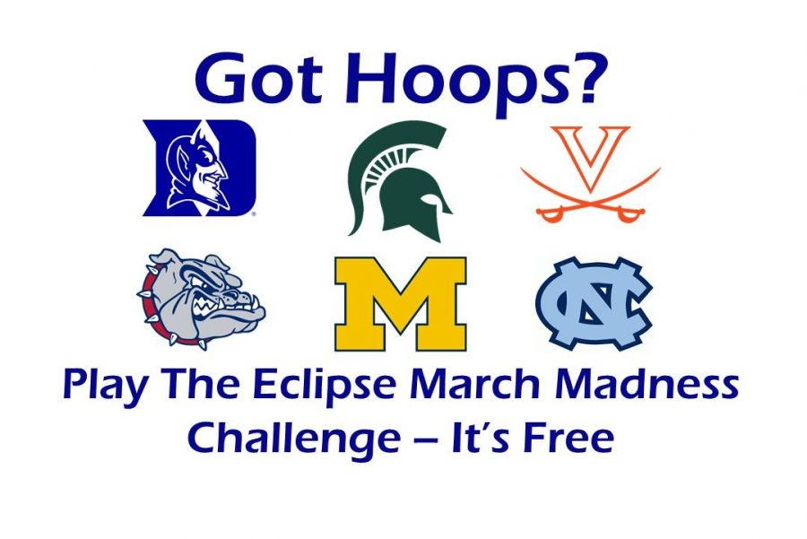 Student and staff can play The Eclipse March Madness Challenge for free.
