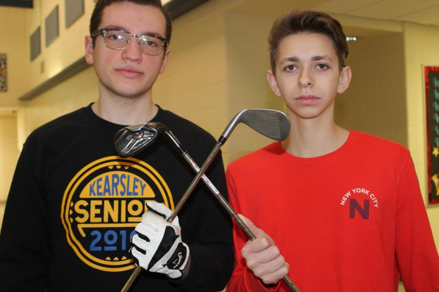 Seniors Tyler Gronauer (l to r) and Stephen White are key returners on the golf team this season.
