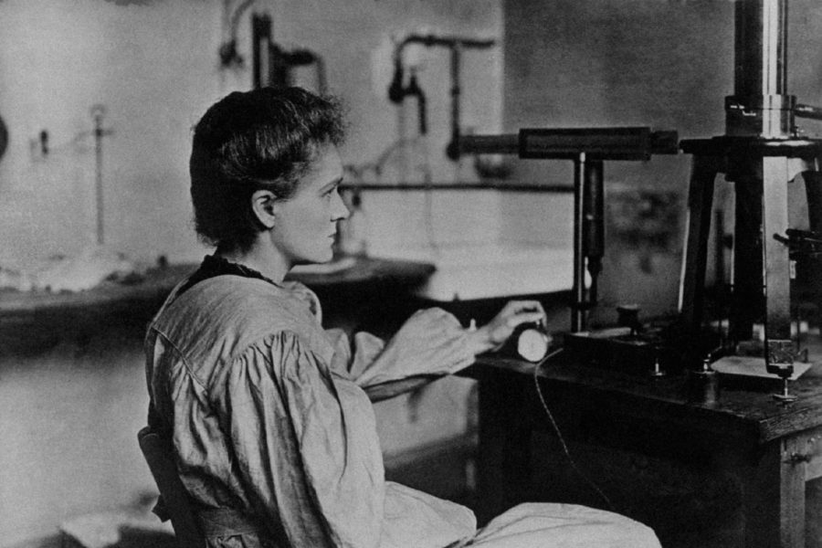 Marie Curie spent most of her life in the lab, paving the way for future female scientists.