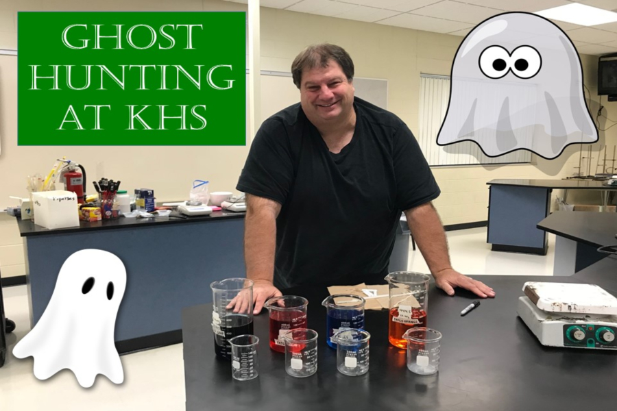 Mr. Kelly Christian, chemistry teacher, is hosting a ghost-hunting session at KHS on Friday, April 5.