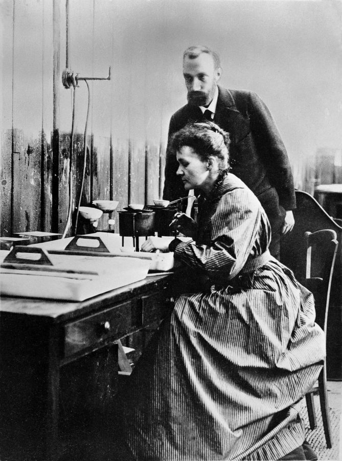 Marie and Pierre Curie spent most of their time together working in a lab.