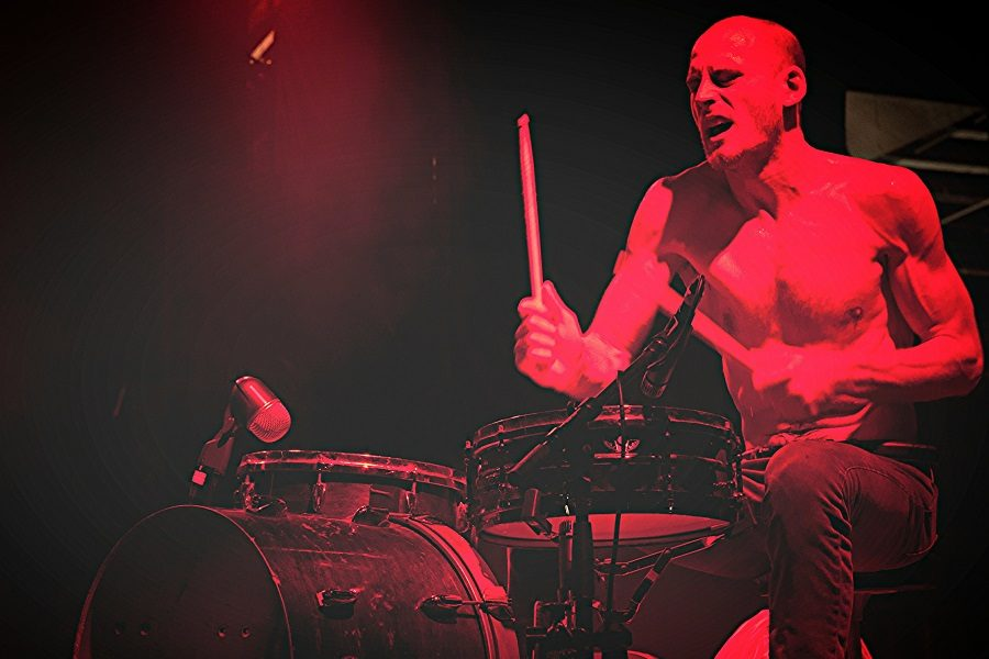 Death Grips drummer Zach Hill performs in Adelaide, Austrailia, in 2013.