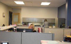 Office staff enjoys their new work area