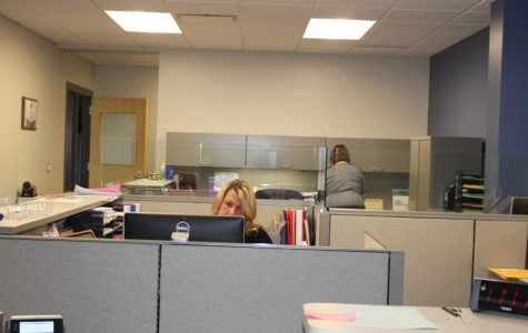 Office staff enjoys their new work area