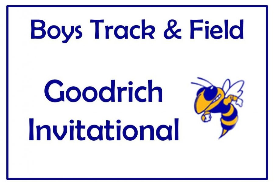 Taking fourth place of the large schools in the Goodrich Invitational on Friday, May 3, the boys track team earned 76 points.