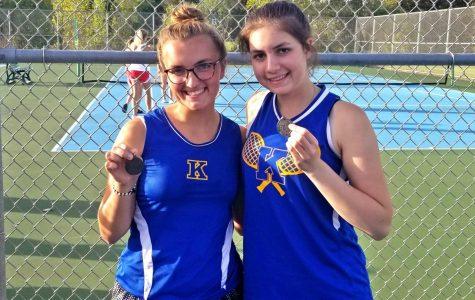 Clarambeau wins first school tennis league title