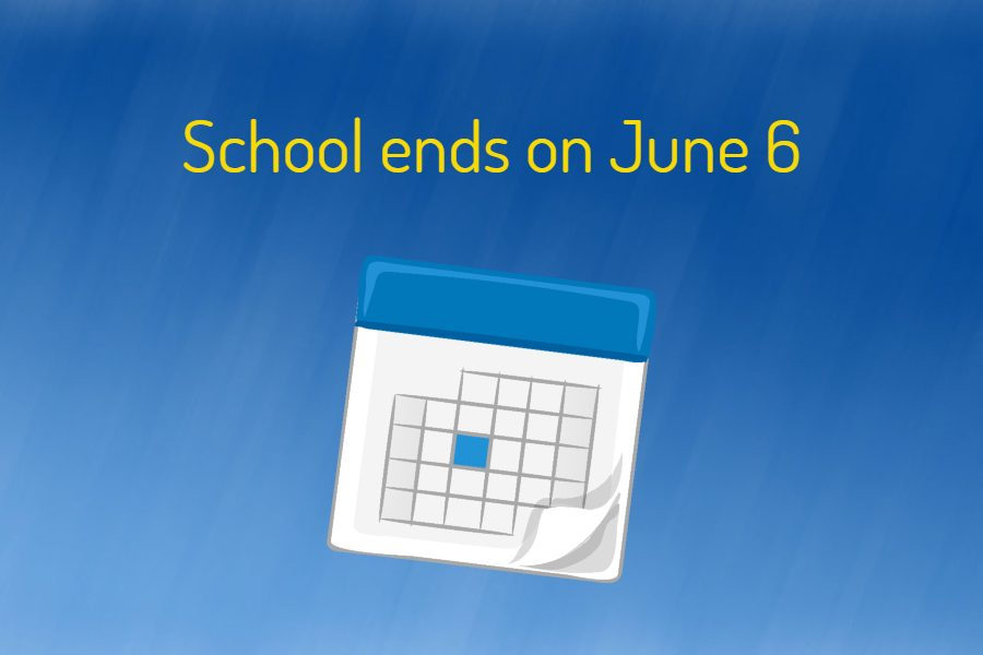 The+end+of+the+2018-2019+school+year+is+now+Thursday%2C+June+6.