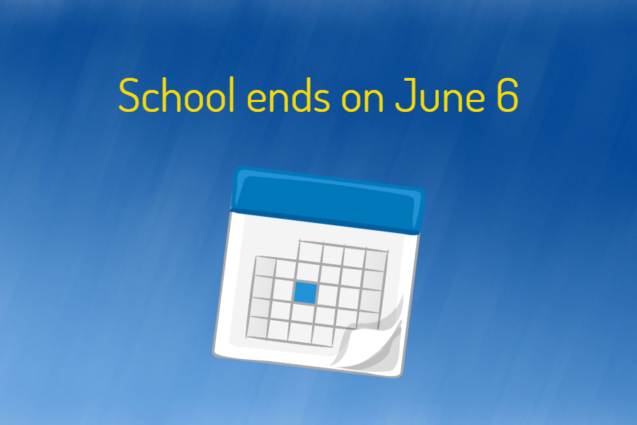 The end of the 2018-2019 school year is now Thursday, June 6.