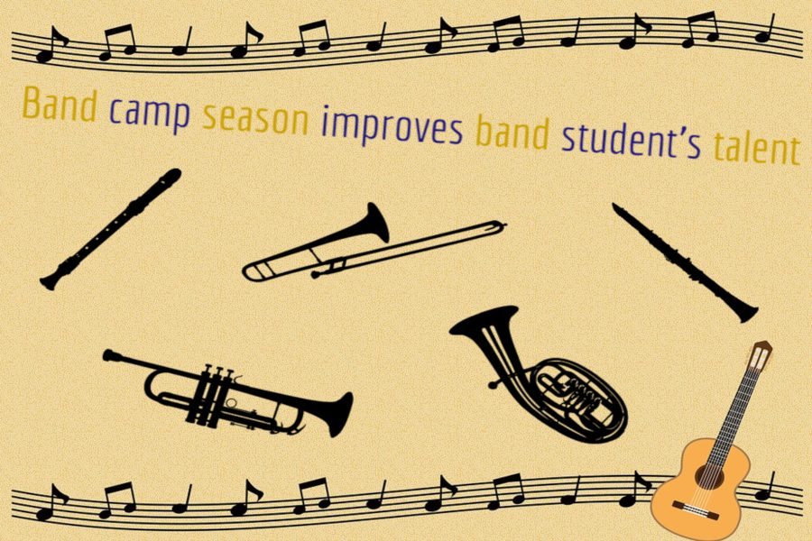 Marching band goes to band camp to learn new marching steps and music from July 29 through Aug. 2.