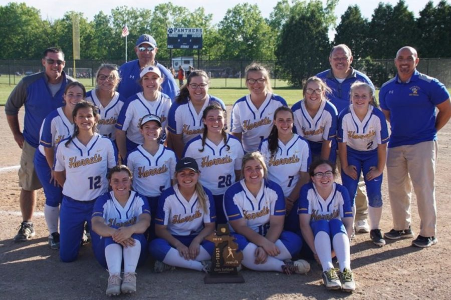 The softball team beat Clio in a district championship 10-2 Monday, June 3.