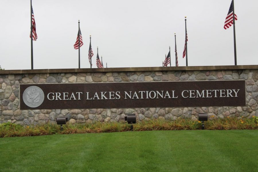 Members of the Hybrid Hornets robotics team participated in a clean-up at Great Lakes National Cemetery in Holly on Saturday, Sept. 28.