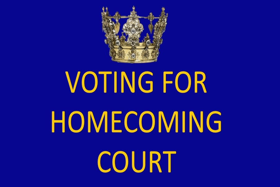Voting for homecoming court begins Wednesday, Sept.14.