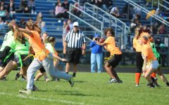 Seniors win third powder puff title in comeback victory
