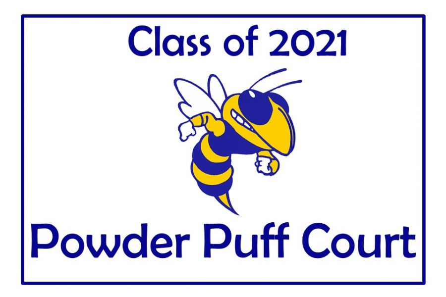 Juniors Jace Chapman, Michael Plunkey, Braylon Silvas, Isaiah Stiverson, and Ethan Young represent the Class of 2021 on powder puff court.