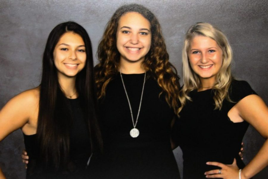 Juniors Jacqueline Olivo (l to r), Jazmyn Shaw, and Mackenzie Alexander will represent the Class of 2021 on 2019's homecoming court.