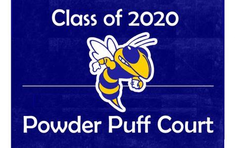 Senior powder puff court eyes crown