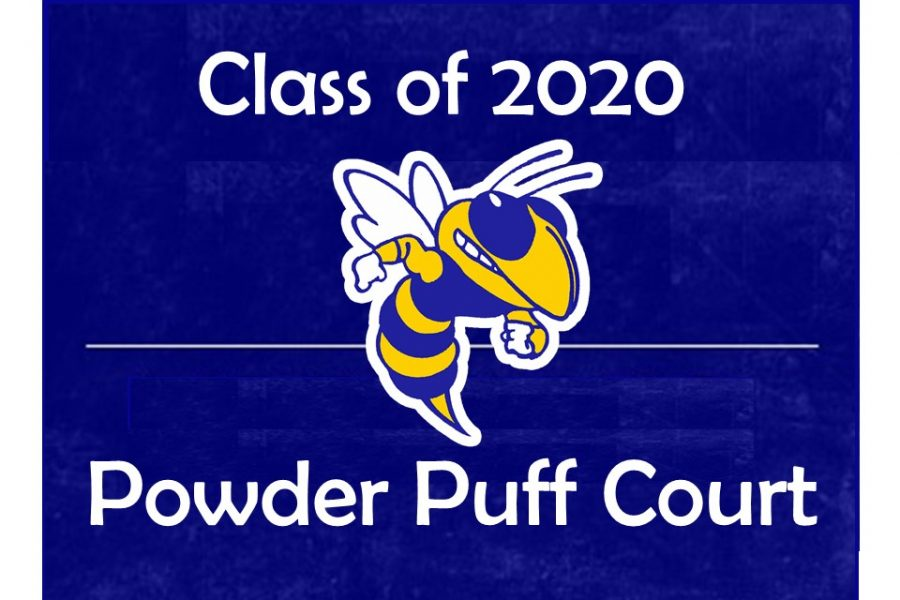 Seniors John Brown, Jaylon Burchfield, Ashtyn Cohoon, Brandon Fisher, and Ethan Livingston make up the Class of 2020 powder puff court.
