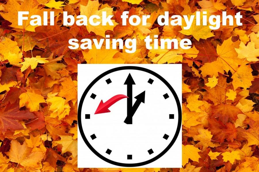 Clocks will turn back for daylight saving time