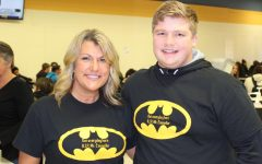 Students, staff honor Councilor with Batman attire