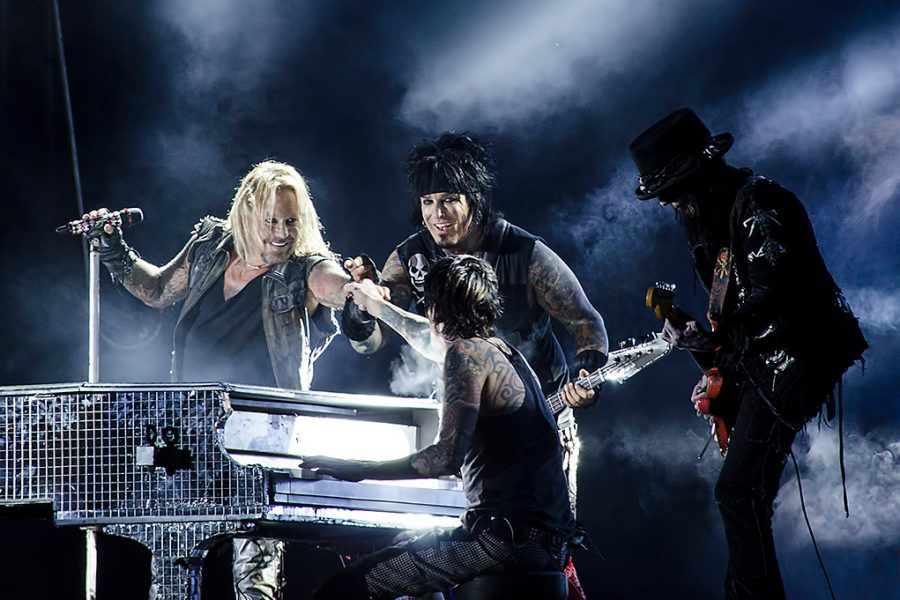 Motley Crue performs in Sweden during a 2012 concert. The band will reunite for a 2020 American tour with Def Leppard and Poison.