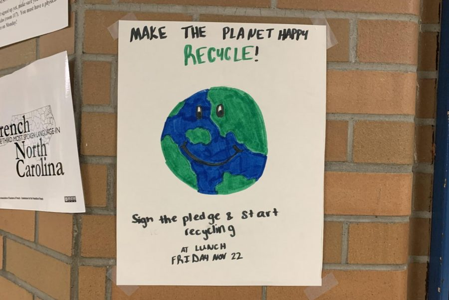 Posters+advertise+a+recycling+event+that+will+be+held+by+the+Community+Problem+Solving+team+Friday%2C+Nov.+22%2C+during+lunches.