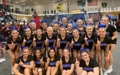 Competitive cheer placed first during its first competition of the season Saturday, Dec. 14.