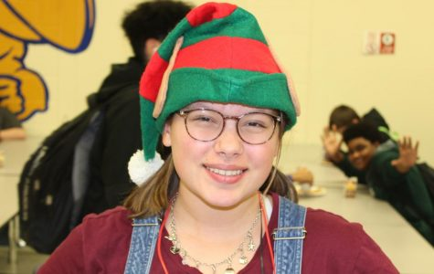 Sophomore Lauren Rice wore an elf hat to school for Christmas hat day Tuesday, Dec. 17.