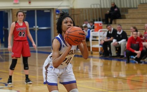 Senior Markayla Shannon focuses as she prepares to shoot a free-throw during a game against Linden Friday, Jan. 24.