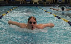 Swim battles the Trojans