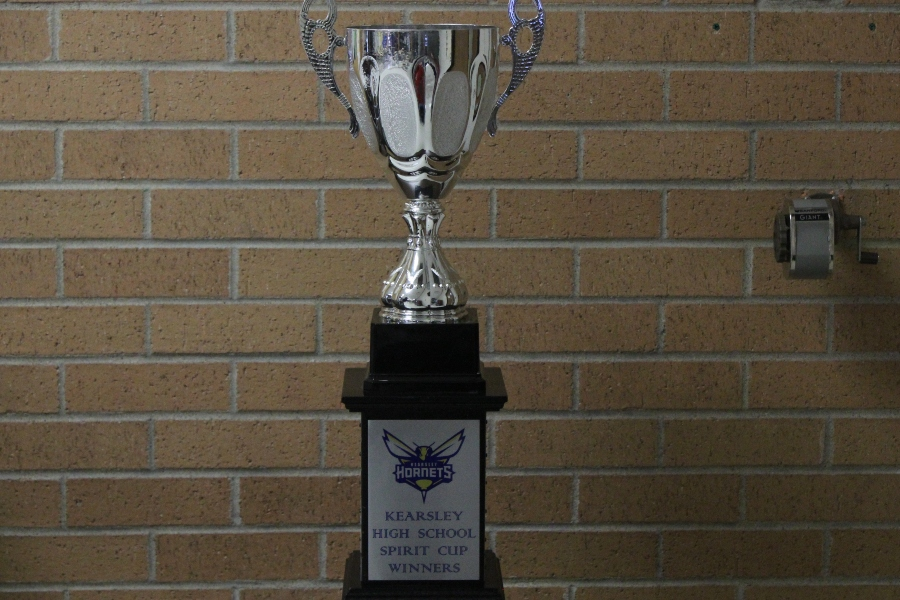 Staff won the Spirit Cup trophy during snowcoming week.