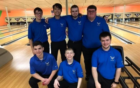 The boys bowling team beat Fenton and Corunna in Metro League matches Saturday, Feb. 8.