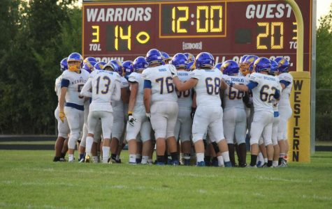 The football team leads Bay City Western 20-13 in an away game Saturday, August 31. The Hornets will look to improve upon last year's success in the upcoming season.