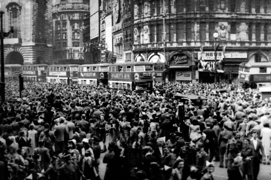 British+citizens+celebrate+Victory+over+Europe+in+London%27s+Piccadilly+Circus+May+8%2C+1945.+Friday+marks+the+75th+anniversary+of+the+Nazi+surrender.