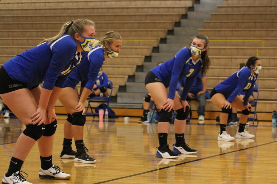The girls volleyball is training for a winning season.
