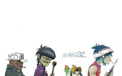 Gorillaz in 2002, since the release of their 2001 debut, they have gone on to win a Grammy and three MTV Video Music Awards.
