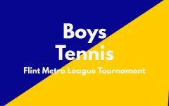 Boys varsity tennis played in the Flint Metro League Tournament on September 30.